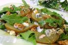 Теплый салат с грушей