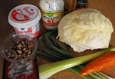 Рецепт Салат с сельдереем и капустой