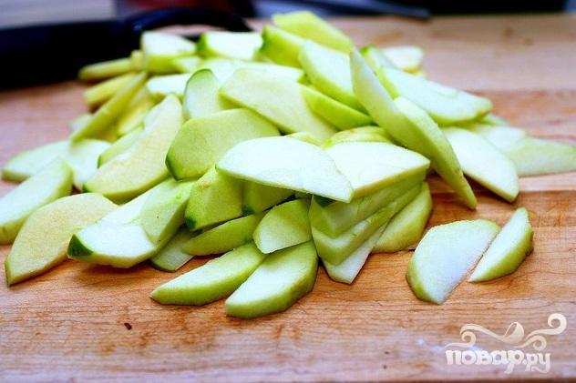 Оладьи с рикоттой и яблоками - фото шаг 1