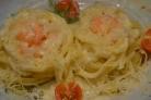 Фетучини с креветками в сливочном соусе
