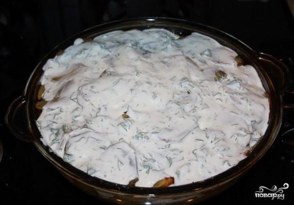 Треска, запеченная с картофелем - фото шаг 8