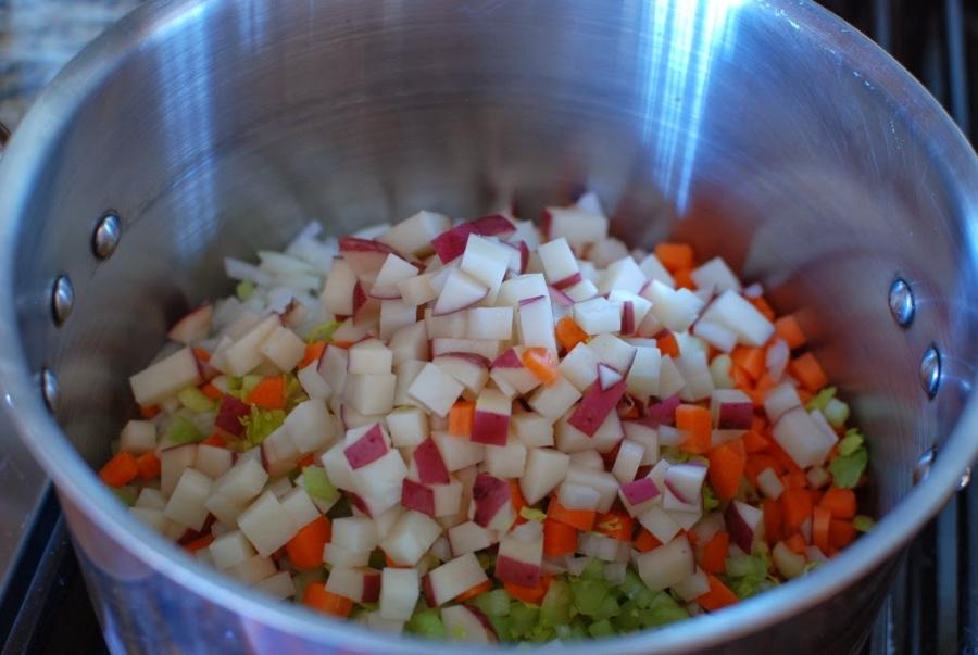 Суп с овощами и ячменем - фото шаг 5