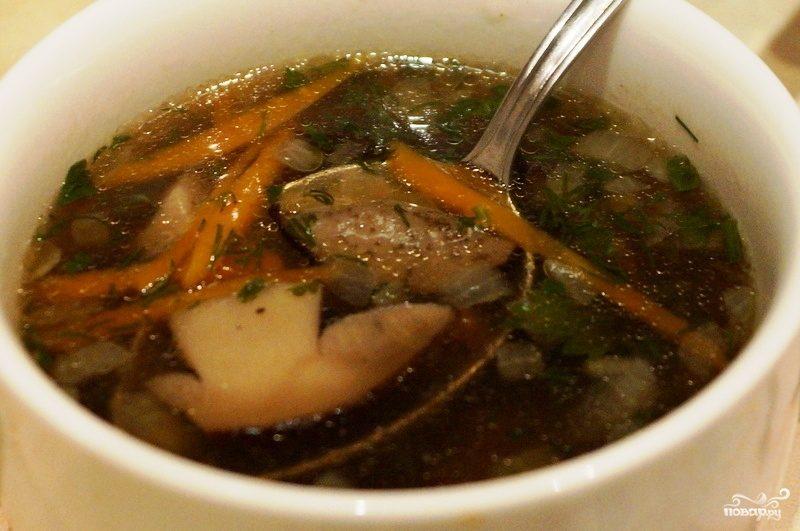 Суп из свежих подберезовиков