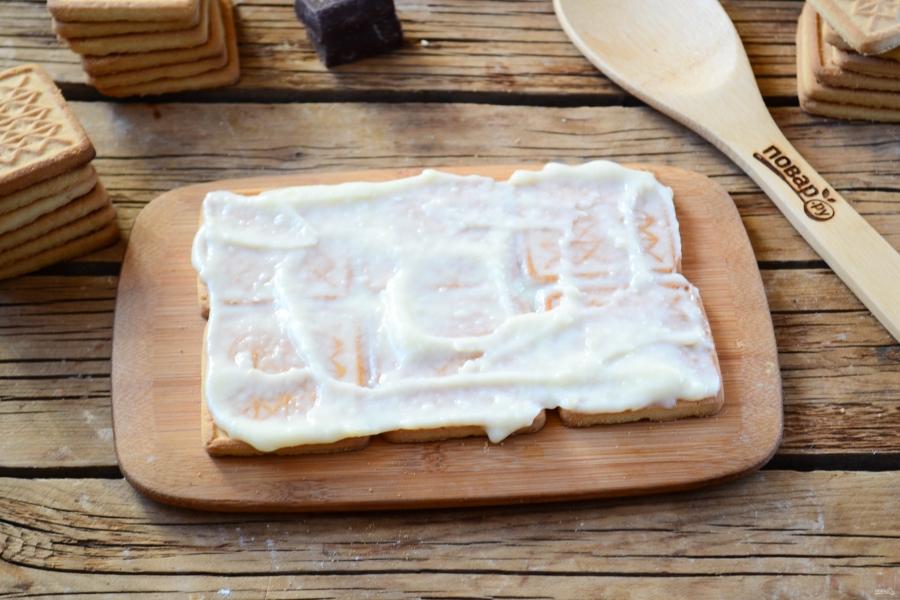 Торт из печенья с заварным кремом - фото шаг 7