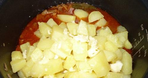 Азу с картошкой в мультиварке - фото шаг 4