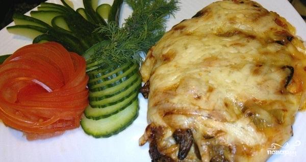 Мясо по-французски в фольге с грибами