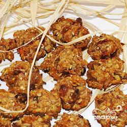 """Рецепт Овсяное печенье """"Здрава"""" с сухофруктами, орехами и ягодами"""