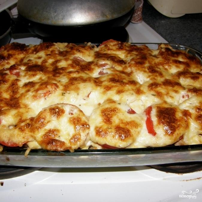 Рецепт картофельной запеканки с овощами с фото