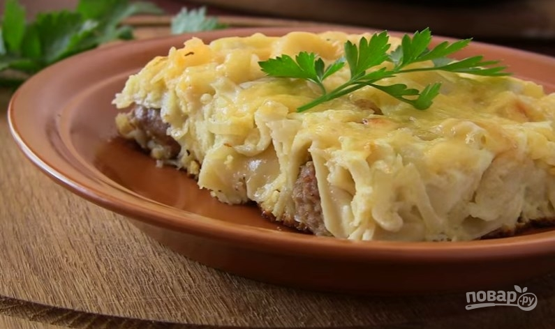 Рецепты с фаршем и картошкой в тесте