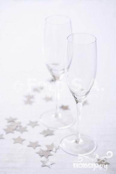 Коктейль с игристым вином - фото шаг 1