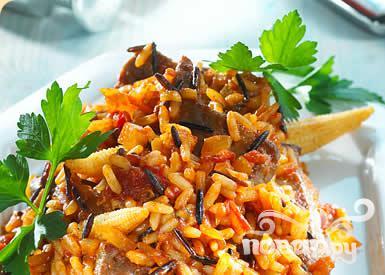 Рецепт Барбекю с жареным рисом