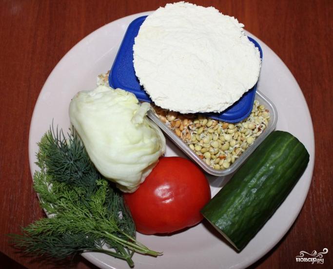 Салат из пророщенной чечевицы - фото шаг 3