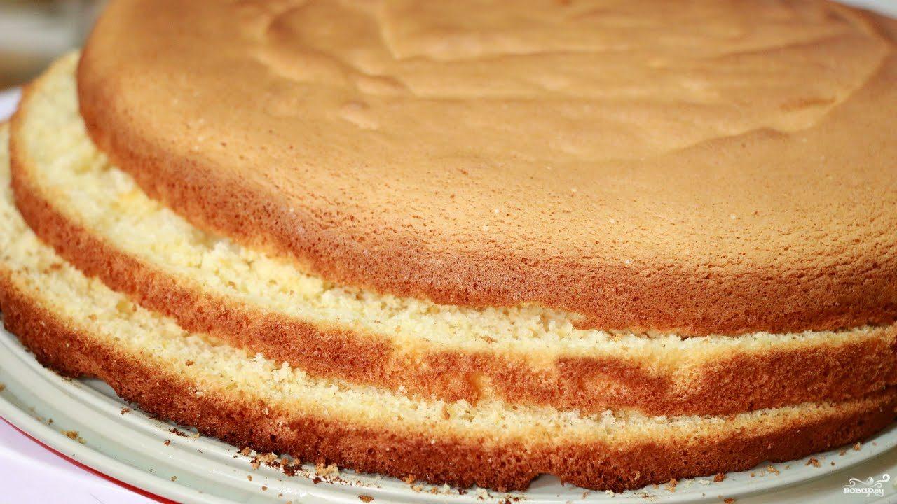бисквит простой для торта рецепт с фото