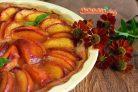 Персиковый пирог на слоеном тесте