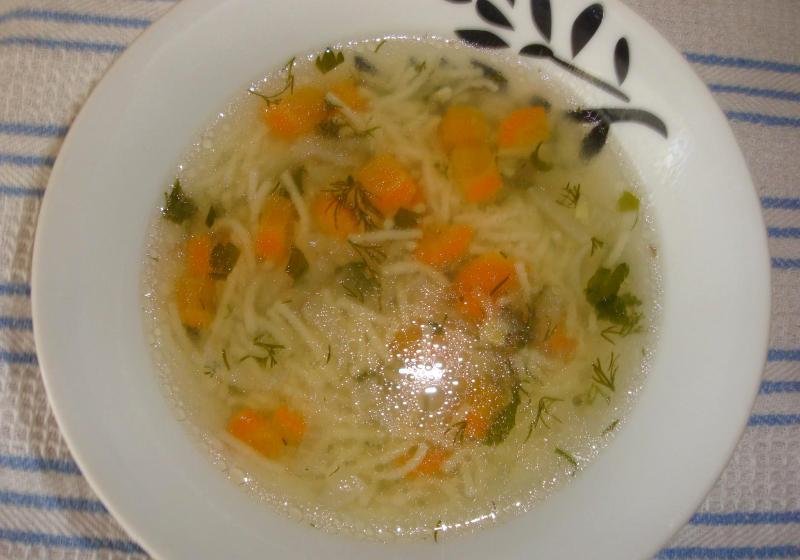 Суп с лапшой в мультиварке - фото шаг 9