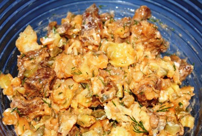 Салат в булочке - фото шаг 3
