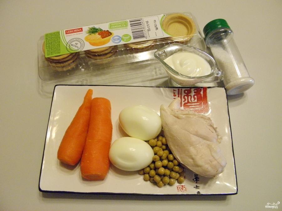 Салат в тарталетках для детей - фото шаг 1