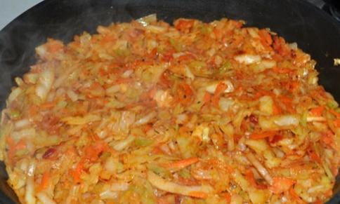 Рецепт Пирог с капустой и рыбой