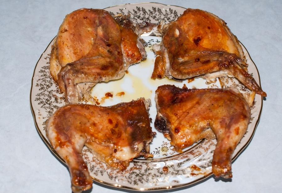 Цыплята табака в духовке