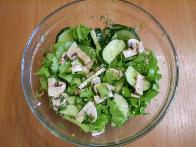Рецепты салатов из свежих грибов с