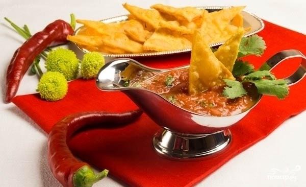 Пошаговое фото рецепта соуса начос