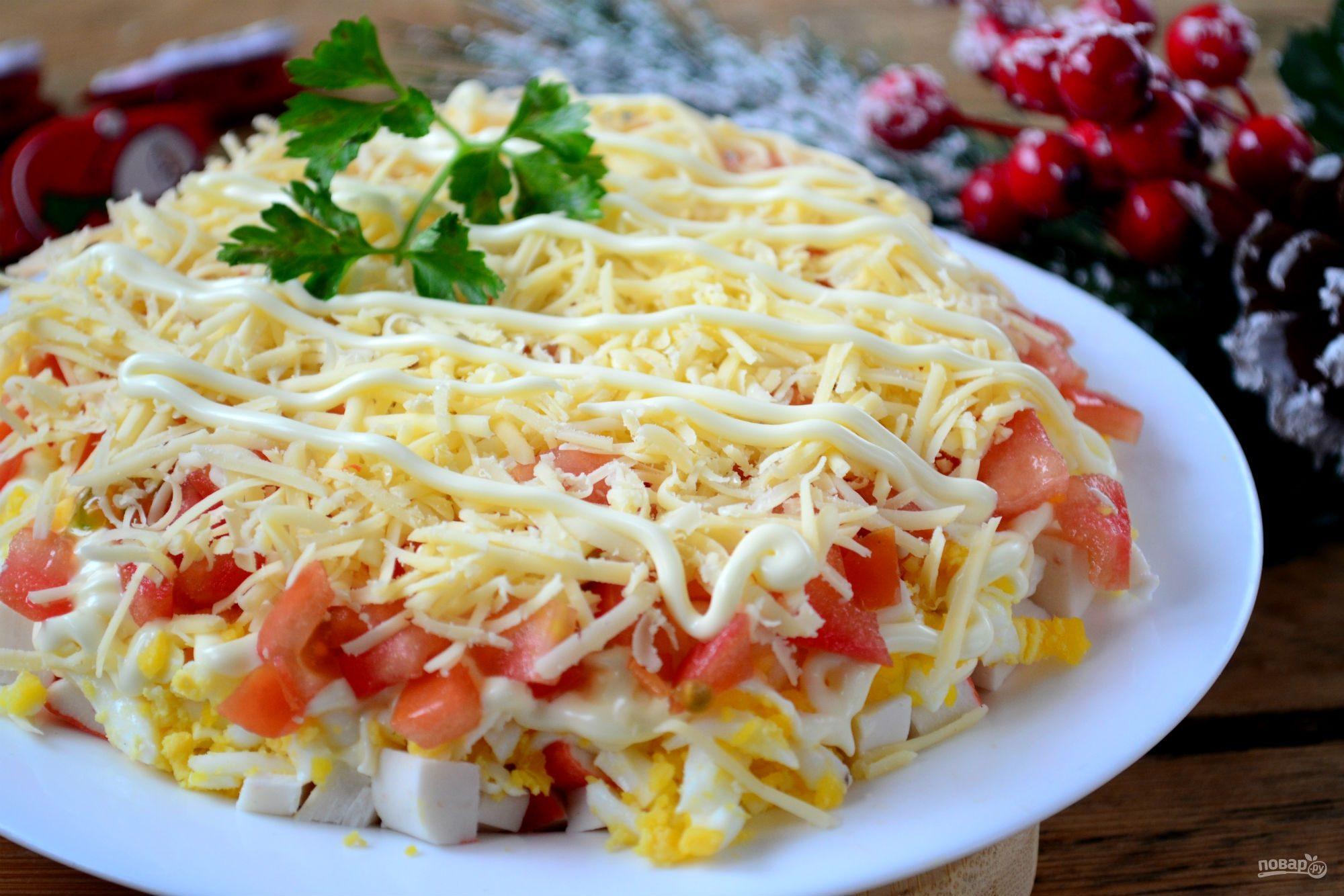 Салат вкусно и быстро с кукурузой