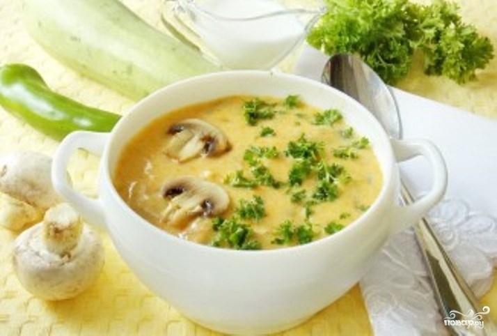 Суп сырный с шампиньонами и курицей рецепт с фото пошагово