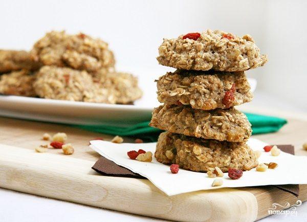 Рецепт Диетическое овсяное печенье с творогом