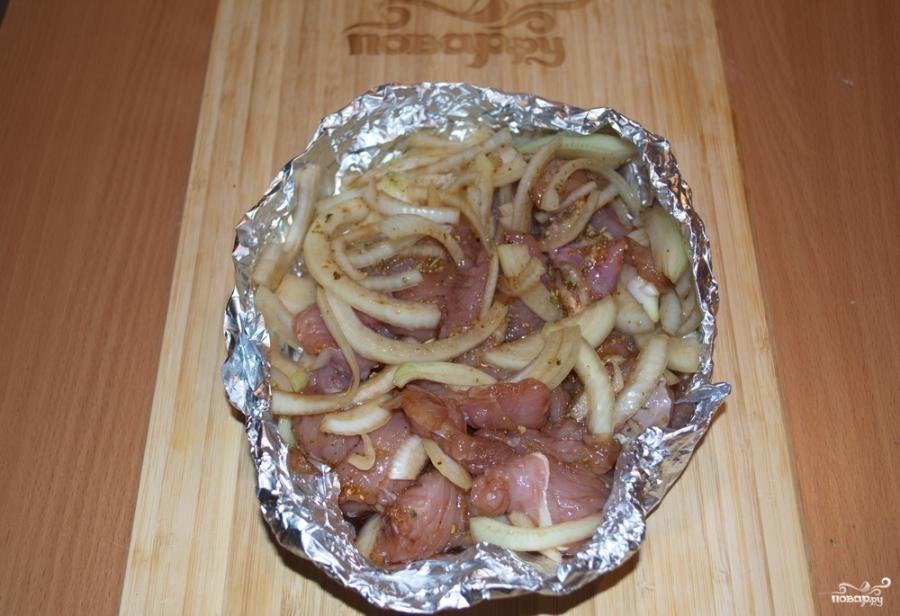 Куриное филе кусочками в духовке - фото шаг 5