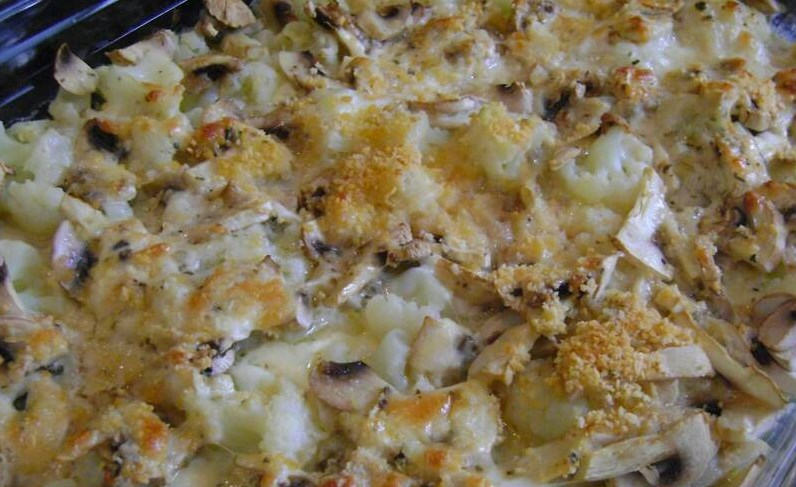 Цветная капуста с грибами в духовке - фото шаг 6