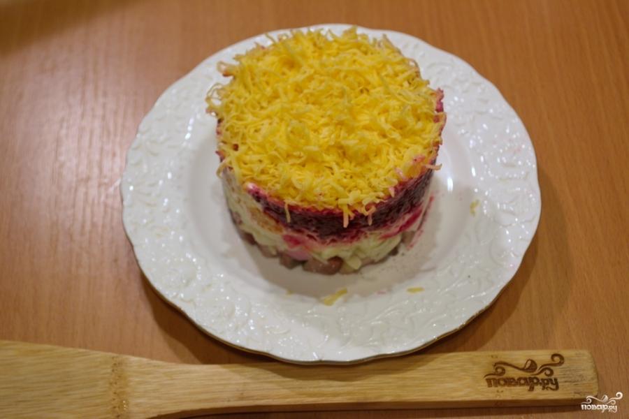 селедка под шубой в сервировочном кольце пошаговый рецепт