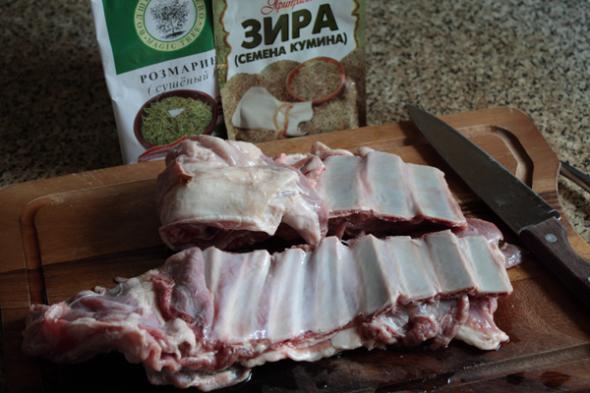 Рецепт Тушеные бараньи ребрышки