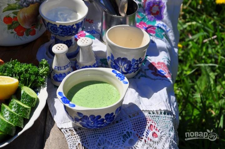 Холодный огуречный суп на йогурте - фото шаг 3