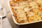 Картофель, запеченный с грибами и сметаной