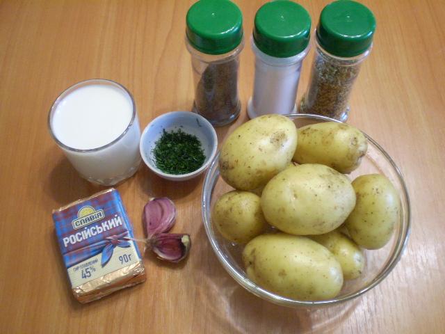 Рецепт Картофель под чесночно-сырным соусом