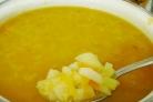 Постный гороховый суп без копченостей