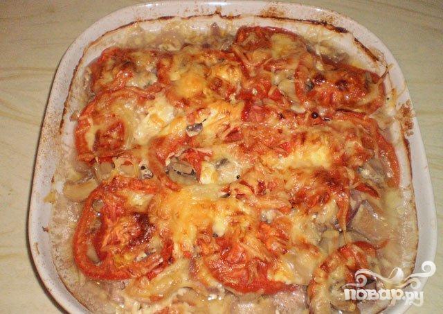 Мясо по-французски с помидорами и грибами фото рецепт ...