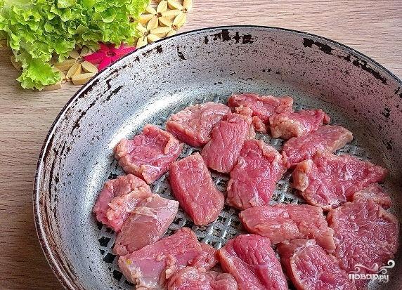 Салат со свининой и шампиньонами - фото шаг 1