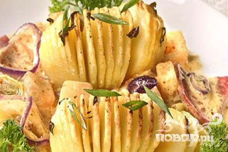Картофель с ананасом