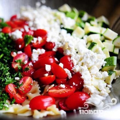 Паста салат с помидорами, цукини, и сыром Фета - фото шаг 15