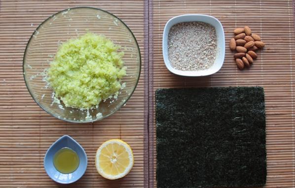 Рецепт Cыроедческие суши