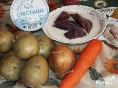 Рецепт Картофель с печенью в мультиварке
