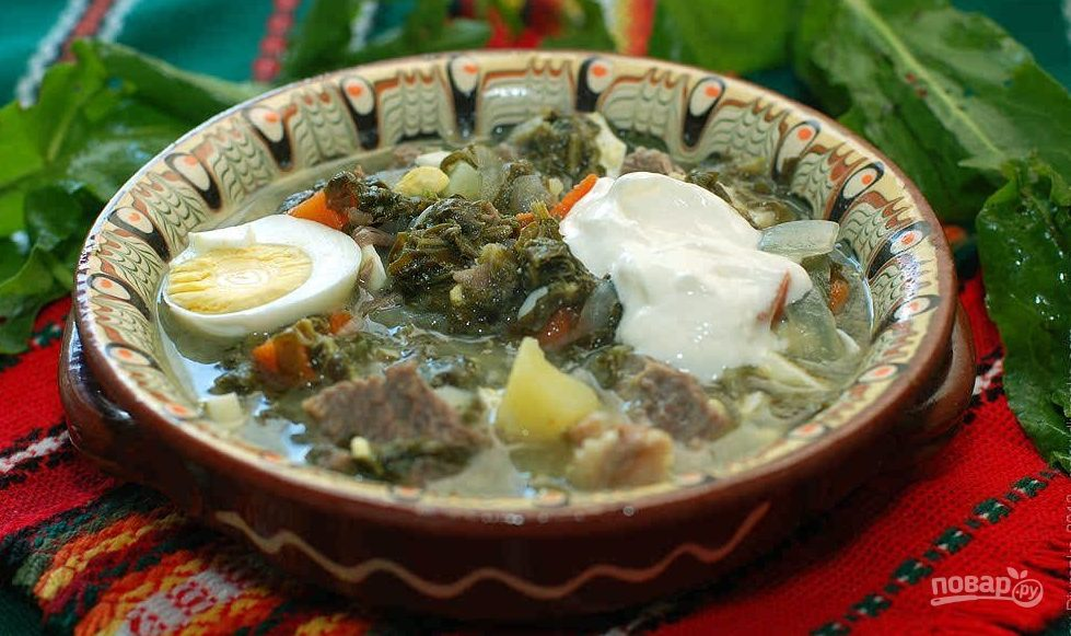 суп с щавелем и яйцом рецепт с фото с мясом