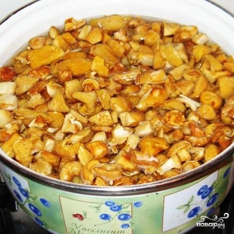 Рецепт Летний суп из лисичек с плавленым сыром