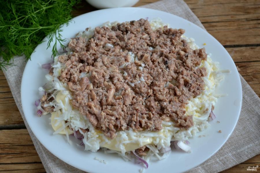 Салат из сайры - фото шаг 7