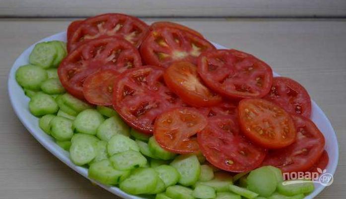 Салат огурцы помидоры грецкий орех