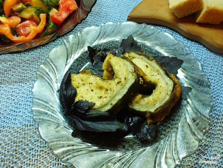 рецепт стейк синей зубатки в духовке рецепт с фото