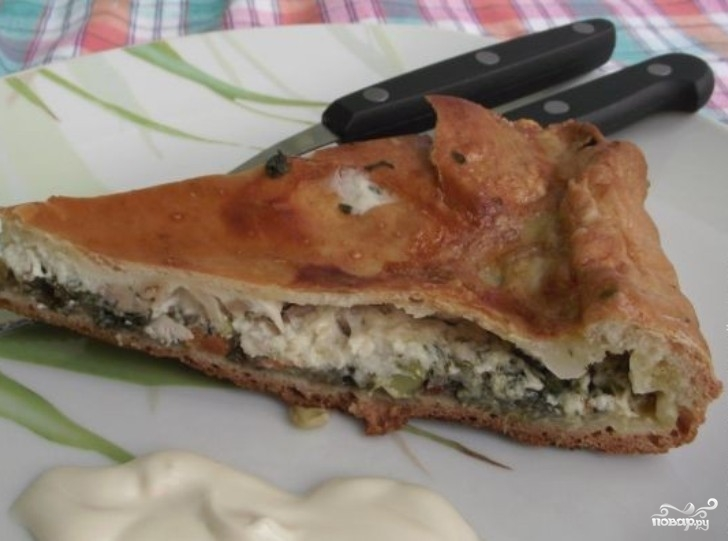 Рецепт Пирог с мясом и овощами