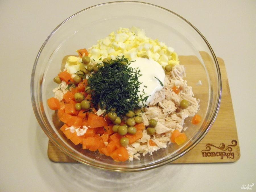 Салат в тарталетках для детей - фото шаг 5