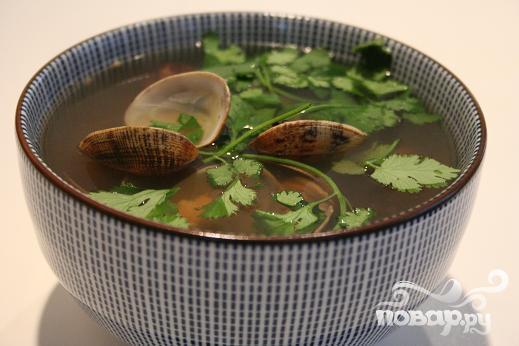 Манхэттенский cуп из моллюсков